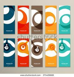Ten vector pattern with abstract figures brochures. - stock vector