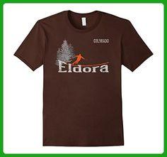 Mens Retro Eldora Colorado Distressed Skiing T Shirt Small Brown - Retro shirts (*Amazon Partner-Link)