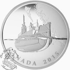 Coin Gallery London Store - Canada: 2015 $20 Canada's First Submarines during the First World War Silver Coin, $89.95 (http://www.coingallerylondon.com/canada-2015-20-canadas-first-submarines-during-the-first-world-war-silver-coin/)