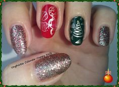 Unghiutze colorate-Happy nails: NOTD-Christmas Mani