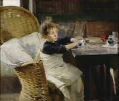 Helene Schjerfbeck: The Convalescent Finnish National Gallery/Ateneum Art Museum. Helene Schjerfbeck, Helsinki, National Gallery, Royal Academy Of Arts, Scandinavian Art, Art Museum, Art History, Art For Kids, Illustration