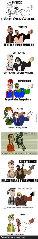 Videogames, videogames everywhere