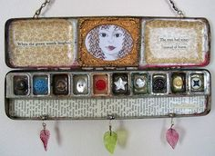 Repurposed watercolor tray Gloucestershire Resource Centre http://www.grcltd.org/scrapstore/
