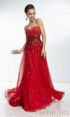Strapless Beaded Prom Dress by Mori Lee 95030 at PromGirl.com
