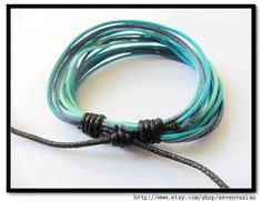 Adjustable Bracelet Cuff made of  Cotton Ropes 281S by sevenvsxiao, $3.00