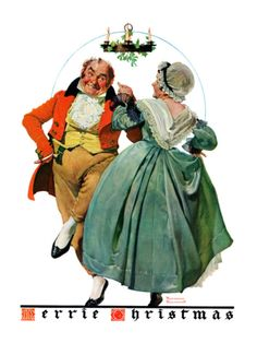 Christmas Dance or Merrie Christmas, December 8,1928 Giclee Print by Norman Rockwell at Art.com