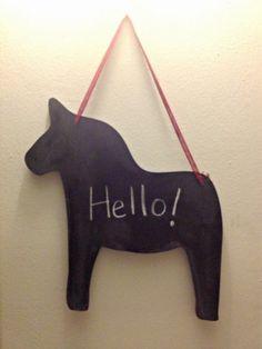 Dala Chalkboard @ https://www.etsy.com/listing/171515019/swedish-dala-horse-chalkboard?