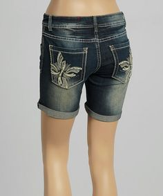 Look what I found on #zulily! Onyx Allie Jean Shorts - Women by RED by Rose Royce #zulilyfinds