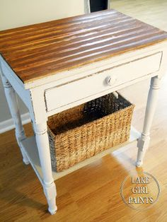 Side Table Makeover - Cottage Chic