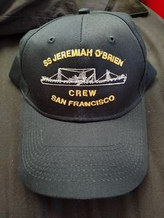 SS Jeremiah O Brien WWII Liberty Ship Baseball Hat Cap Embroidered Snap Back   fashion f4613fcfcaf9
