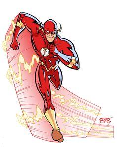 Team Flash Animated Version! JLU style. Harrison wells, Caitlin ...