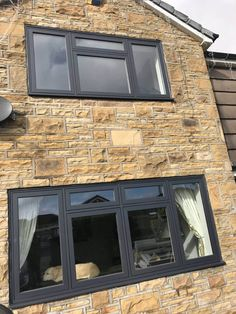 Our Heritage Flush Casement Windows will make a stunning addition to your home! Expertly made products at premium prices and fast turnaround. Grey Front Doors, Front Windows, Sash Windows, Casement Windows, House Windows, Back Doors, Windows And Doors, Exterior Windows, Anthracite Grey Windows