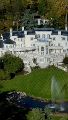 This is called UpDown Court and is in the village of Windlesham in Surrey, England. The 103-room mansion has 58 acres of landscaped gardens and private woodlands. In 2005, it was considered the most expensive residential house in the world with a price tag of $138 Million. More juicy gossip about this house at http://en.wikipedia.org/wik...