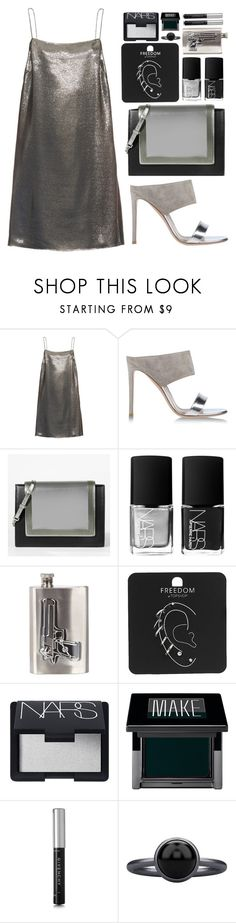 """HEAVY METAL"" by mariimontero ❤ liked on Polyvore featuring Yves Saint Laurent, Gianvito Rossi, CHARLES & KEITH, NARS Cosmetics, River Island, Topshop, Make, Givenchy and Pieces"