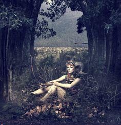 """Fae"" — Photographer:Senangelis PhotographyWardrobe/Headpiece:Asylum DollzModel: Miss Twisted"