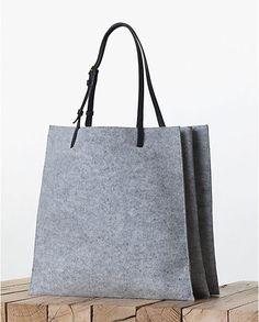 Celine Triple Grey Felt Shopping Tote bag - Fall 2013