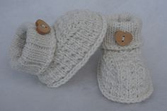 Strick- & Häkelschuhe - Baby Bootie Babyschuhe - ein Designerstück von BiKa-Design bei DaWanda