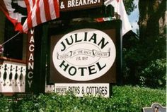 The Julian Hotel ghost spirit haunt:  [User Submitted]Albert and his Hotel Robinson The town of Julian, nestled in the hills of San Diego County in California, was founded in the 1860s by a small group of adventurous men on their way to San Diego, or so the story goes. Soon after its founding, gold was discovered, and Julian became a boomtown. The pinnacle of gold production occurred in the 1870s, and a