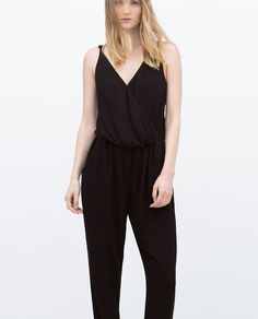 Image 2 of LONG JUMPSUIT  WITH STRAPS from Zara