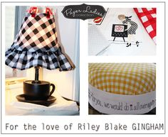 Cute projects in Riley Blake Gingham! #iloverileyblake #fabricismyfun