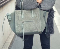 Fancy | Green Phantom Luggage Tote by Celine