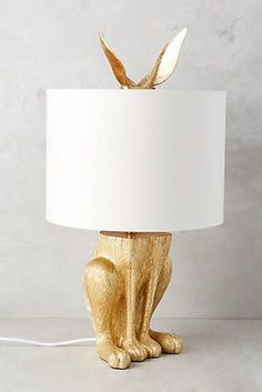 Gilded Hare Lamp Ensemble