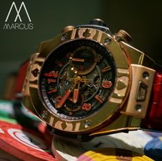 The odds are in my favour  I'm all in!!!! Hublot Big Bang Unico, world poker tour watch.  limited to 100 pieces.