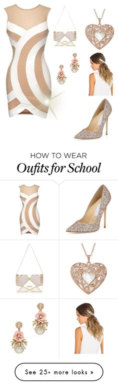 """School Concert"" by annawell-1 on Polyvore featuring Jimmy Choo, River Island and Lelet NY"