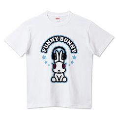 FUNNY☆BUNNY【カレッジ】 #funny #bunny #rabbit #music #headphone #fashion #tシャツ #カレッジ #ストリート #うさぎ #ヘッドホン #funnybunny