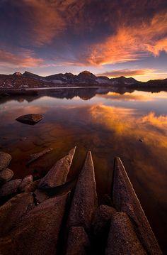 scenery, landscapes, nature, water, Granite Lake, High Sierra, California, photo by Marc Adamus