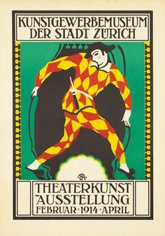 Roesch Poster: Theaterkunst Austellung - Zurich