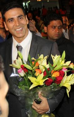 Akshay Kumar was all smiles at the premiere of 'Entertainment' in Delhi. #Style #Bollywood #Fashion #Handsome