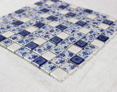 Porcelain tile glazed mosaic wall stickers Kitchen backsplash tiles QW633 1 inch Ceramic tiles for bathroom floor mirror decor
