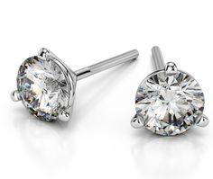 Martini Three Prong Earring Settings in Platinum   Thumb 01