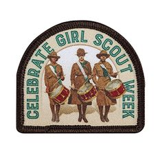 New Celebrate Girl Scout Week patch now available in our online shop!