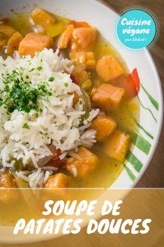 Soupe de patates douces - Cuisine végane pour débutant·e