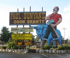 Paul Bunyan, Minocqua. There are only 2 Paul Bunyans in the World!! Make sure you eat here!