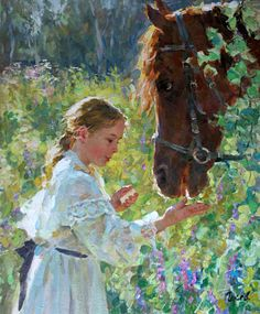 Cheer ~ Vladimir Gusev Reminds me of my granddaughter, Lauren, and her new love for horses. Russian Painting, Russian Art, Paintings I Love, Equine Art, Horse Art, Beautiful Paintings, Belle Photo, Illustration Art, Illustrations