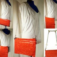 Nouveauté sur la boutique le sac modulable 3 en 1 en simili cuir orange