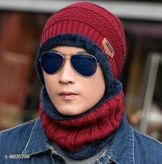 Caps & Hats PinKit Ultra Soft Unisex Woolen Beanie Cap + Neck Scarf Set for Men and Women - Warm, Snow Proof - (Maroon) Material: Acrylic Pattern: Textured Multipack: 2 Sizes: Free Size Country of Origin: India Sizes Available: Free Size *Proof of Safe Delivery! Click to know on Safety Standards of Delivery Partners- https://ltl.sh/y_nZrAV3  Catalog Rating: ★4.2 (1545)  Catalog Name: Fancy Trendy Men Caps & Hats CatalogID_1698093 C65-SC1229 Code: 303-9606739-