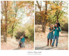 Thousand Oaks Holiday Mini-Session, hiking in the autumn colors!  Love fall portraits!