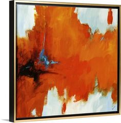 """Red Tail II"" canvas print, shown in a gold floating frame, is an explosion of orange color! Buy now at GreatBIGCanvas.com"