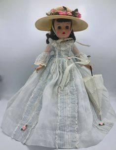 "Vintage Madam Alexander 1963 ""Elise Scarlett Doll"" 16 inch Rare! #MadameAlexander Gold Tutu, Scarlett O'hara, Vintage Madame Alexander Dolls, Bride Dolls, Doll Furniture, Vintage Dolls, Traditional Dresses, Doll Clothes, Miniature"