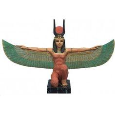 Kneeling Winged Egyptian Goddess Isis Statue