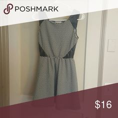 Leather accent skater dress Like new dress. Great shape! Light weight. Perfect for winter or fall with a jacket and leggings or summer with wedges! socialite  Dresses Mini