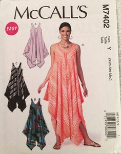 McCall's Sewing Pattern M7402 Misses' by SheerWhimsyDesigns