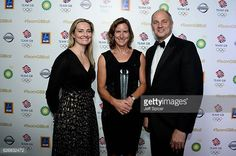 Sarah Webb, Katherine Grainger (Olympian's Olympian Winner) and Sir Steve Redgrave at the Team GB Ball in 2016