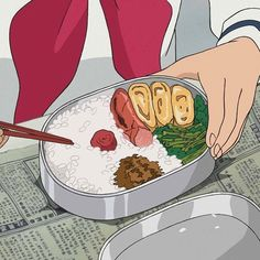 From up on Poppy hill Aesthetic Images, Aesthetic Food, Aesthetic Anime, Sky Aesthetic, Old Anime, Anime Art, Up On Poppy Hill, Chihiro Y Haku, Anime Bento