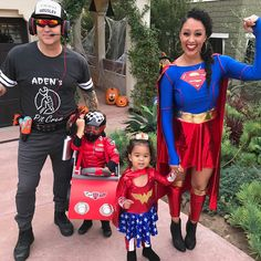 Tamera Mowry and Adam Housely and family halloween interracial goals mixed kids