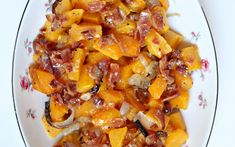 Roasted Butternut Squash with Maple- Bacon Butter